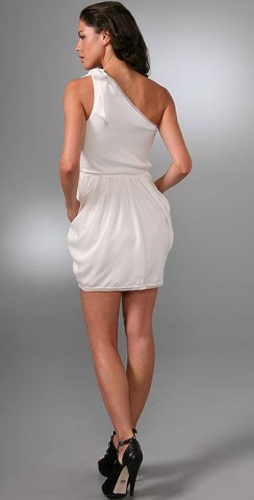 alice + olivia Tessa Tie Shoulder Dress