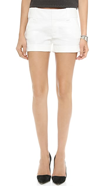 alice + olivia Cady Cuff Metallic Short