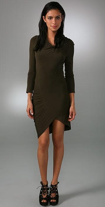 alice + olivia Clarissa Cowl Neck Dress