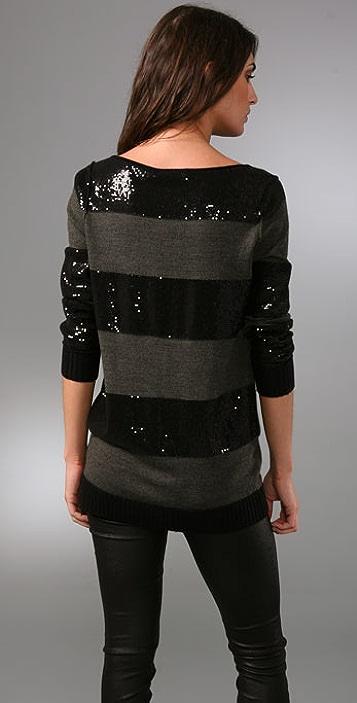 alice + olivia Evan Sequin Striped Sweater