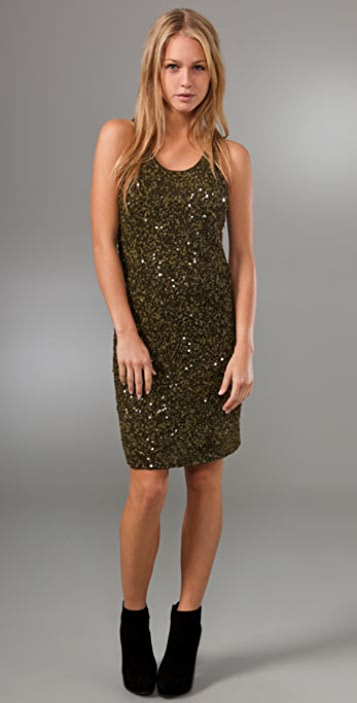 alice + olivia Kendra Sequin Dress
