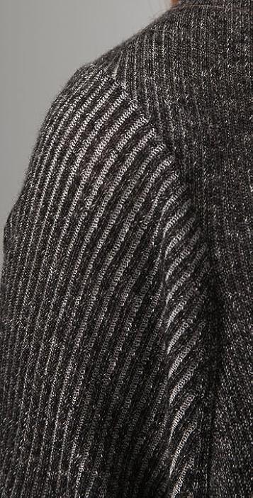 alice + olivia Ash Ribbed Long Cardigan