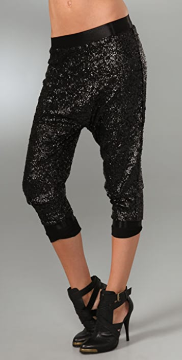 alice + olivia Sequin Slim Pants