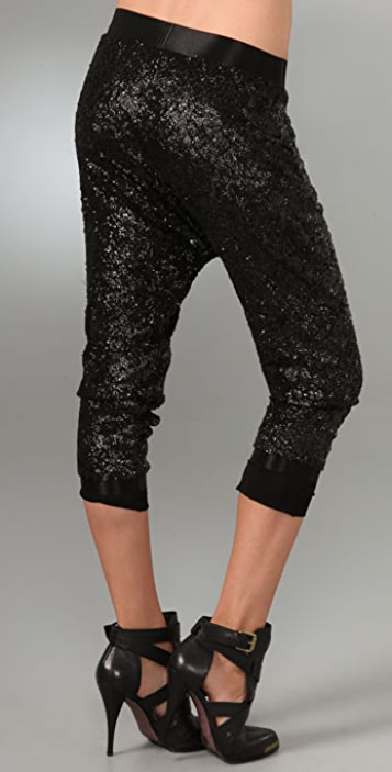 alice + olivia Sequin Slim Pants