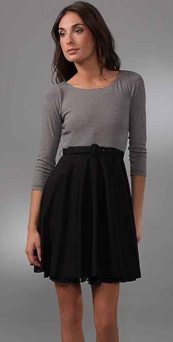 alice + olivia Chloe Tennis Dress with Belt