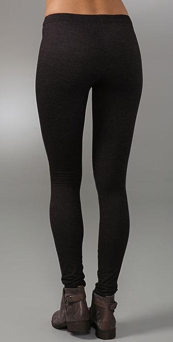 alice + olivia Denim Style Leggings with Front Zip