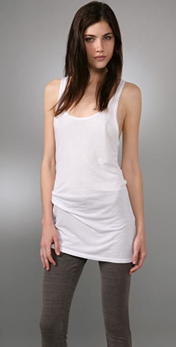 alice + olivia Button Back Racer Tank