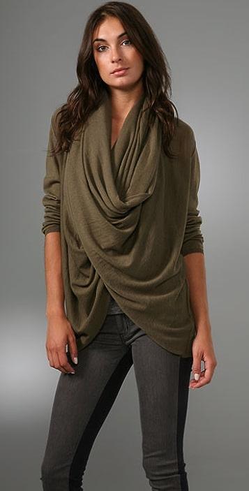 alice + olivia Drape Wrap Around Sweater