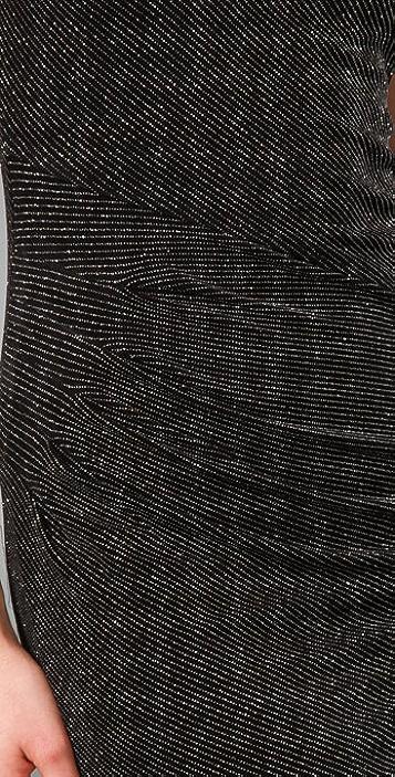 alice + olivia Pickford Seamed Glitter Dress