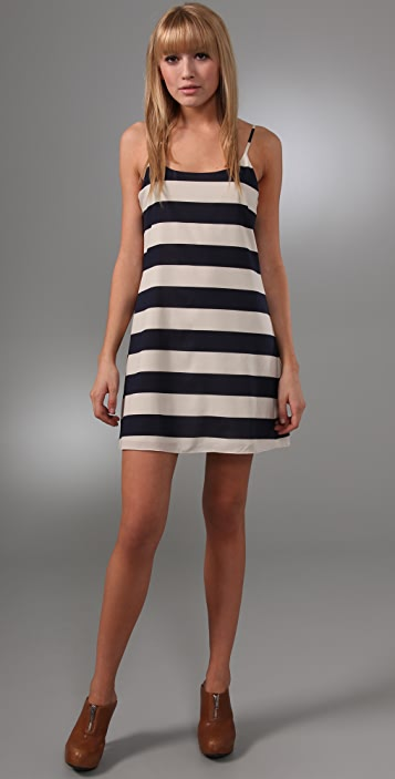 alice + olivia Striped Russell Slip Dress