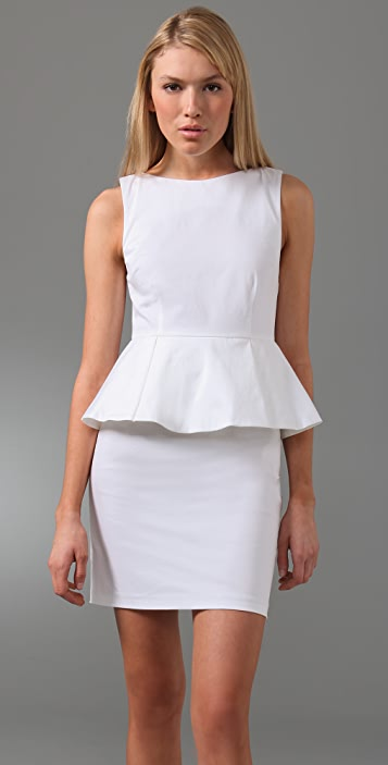 alice + olivia Joey Peplum Dress