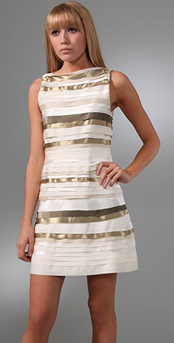 alice + olivia Vivienne Strip Dress