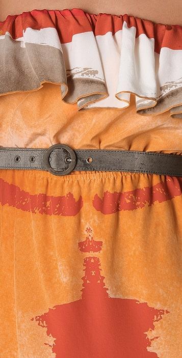alice + olivia Avindale Belted Long Dress