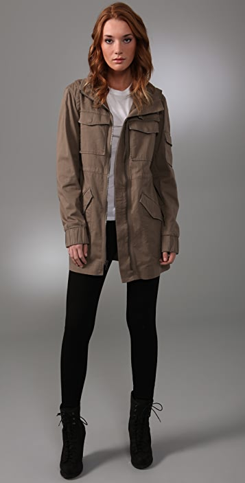 alice + olivia Peter Bomber Coat