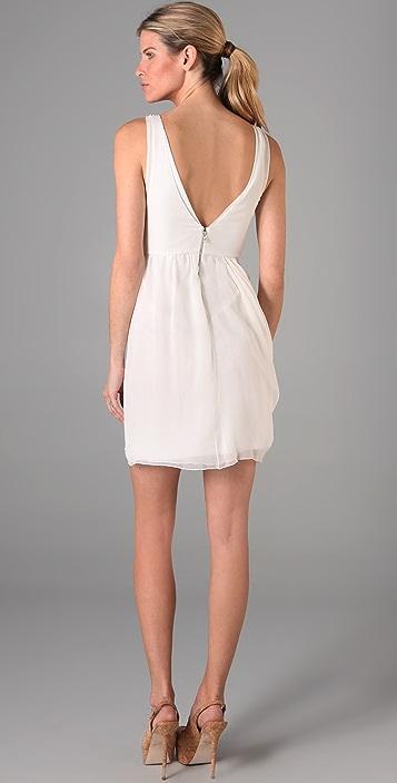 alice + olivia Faux Wrap Drape Dress