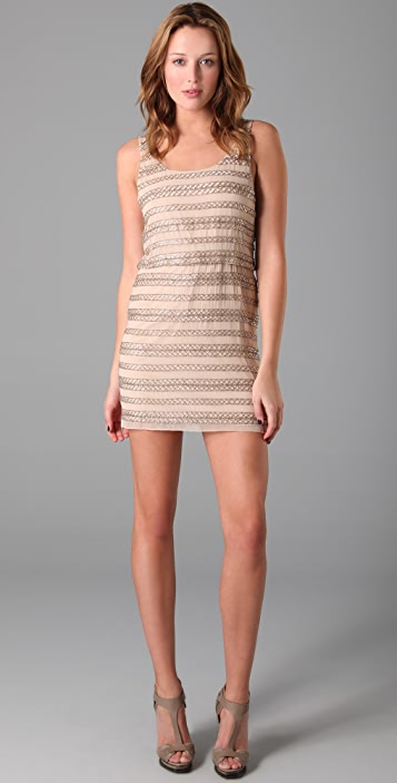 alice + olivia Gabby Beaded Tank Dress