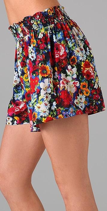 alice + olivia Smocked Waist Play Shorts