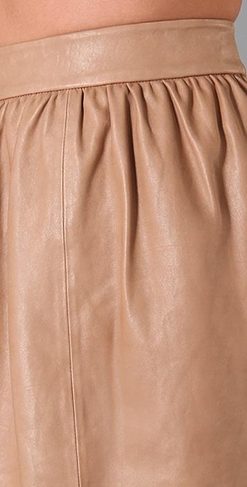 alice + olivia Leather Tulip Skirt