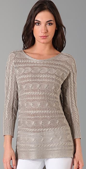 alice + olivia Hayden Cable Knit Sweater