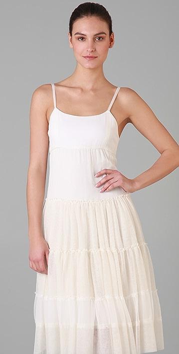 alice + olivia Reyna Seamed Flounce Dress