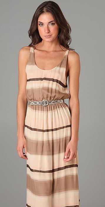 alice + olivia Jill Blouson Long Dress
