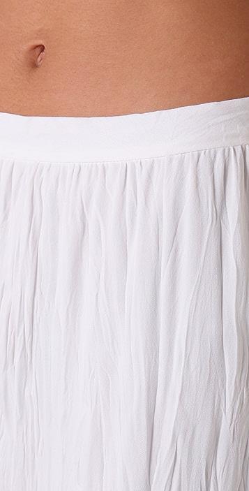 alice + olivia Crinkle Silk Long Skirt