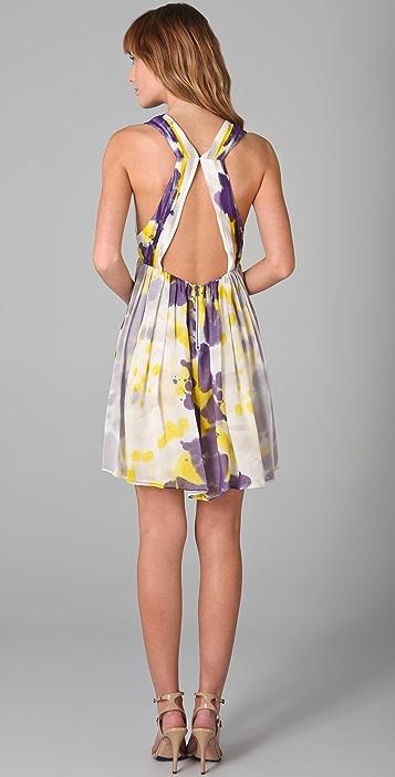 alice + olivia Connley V Neck Dress
