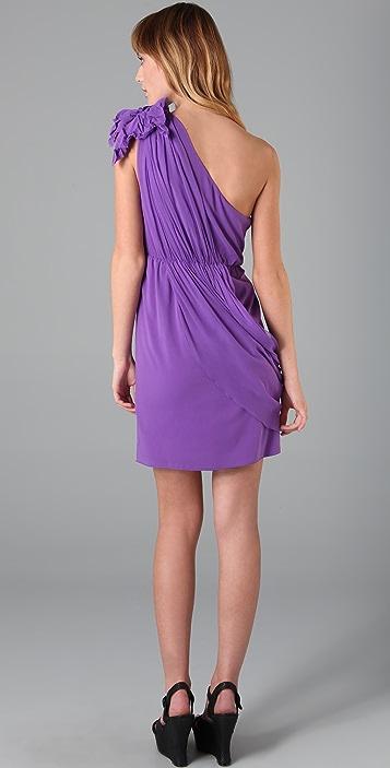 alice + olivia Carmen One Shoulder Dress