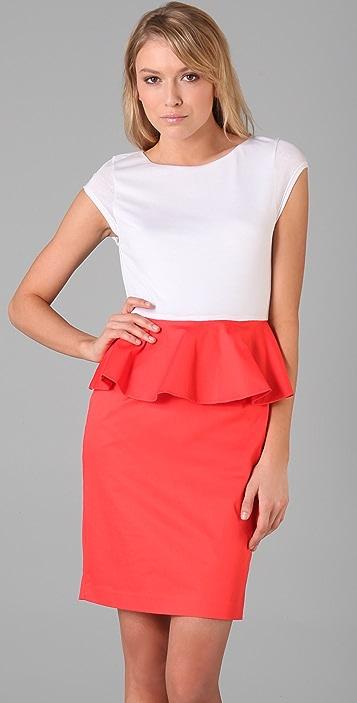 alice + olivia Gita Peplum T Shirt Dress