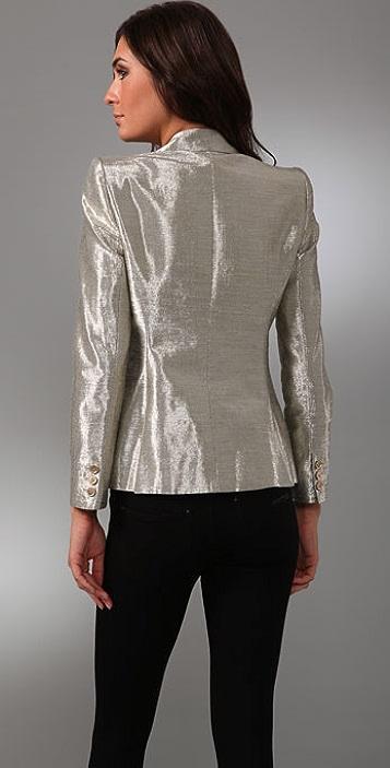 alice + olivia Elyse Metallic Blazer