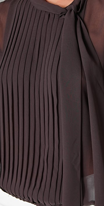 alice + olivia Carol Tie Collar Blouse