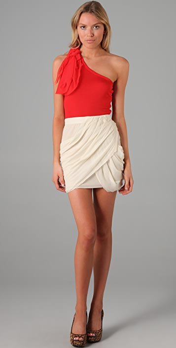 alice + olivia One Shoulder Top