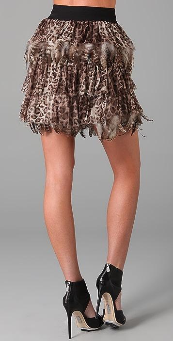 alice + olivia Kae Feather Skirt