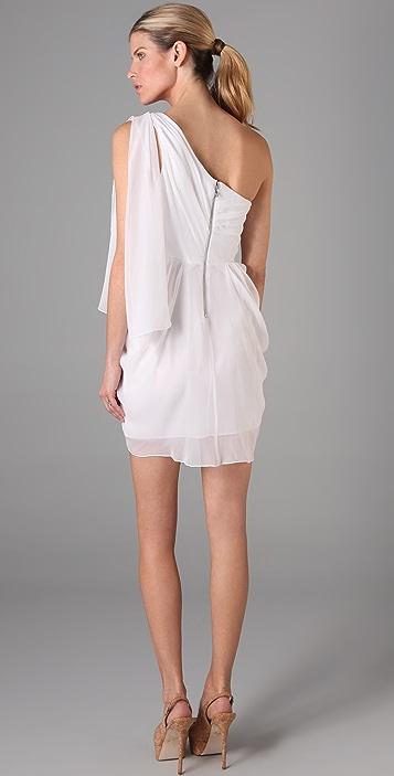 alice + olivia Kellye One Shoulder Dress