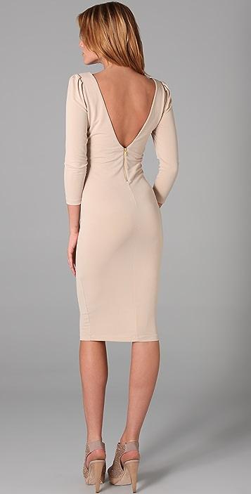 alice + olivia Sonia Side Zip Midi Dress
