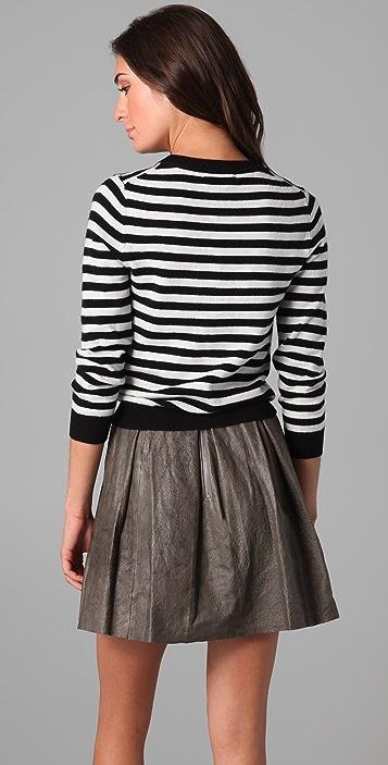 alice + olivia Presley Striped Cashmere Sweater