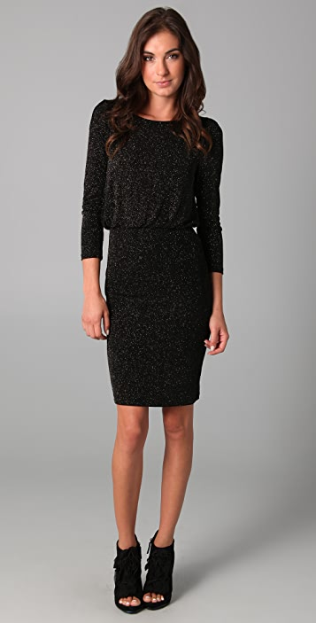 alice + olivia Aerin Fitted Blouson Dress