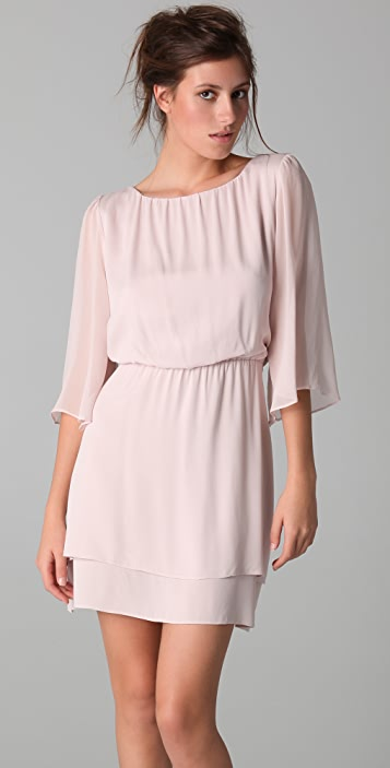 alice + olivia Petunia Bell Sleeve Dress