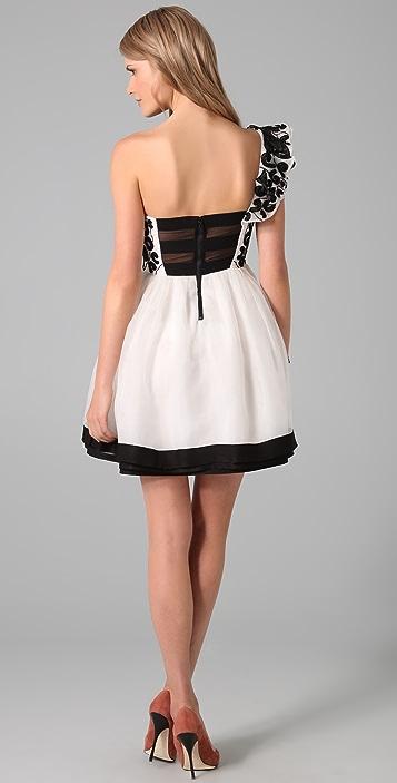 alice + olivia Swift One Shoulder Party Dress