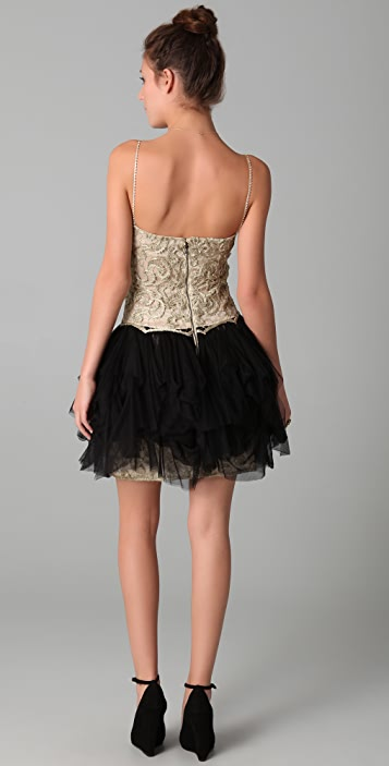alice + olivia Claire Lace Combo Dress