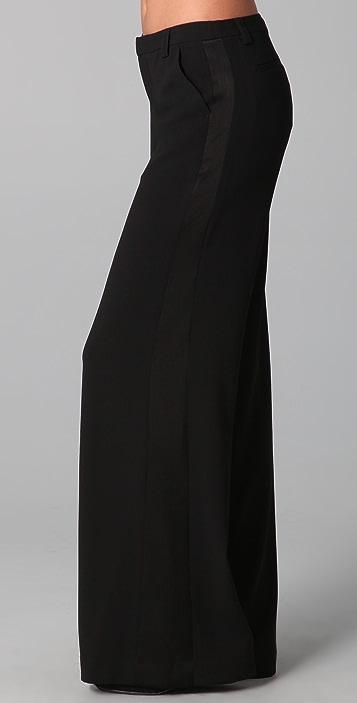 alice + olivia Wide Leg Tuxedo Trousers