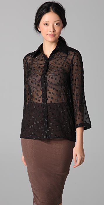 alice + olivia Easely Print Button Down