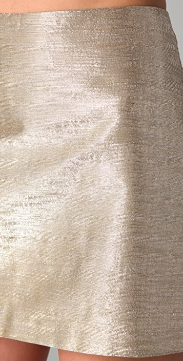 alice + olivia Myra Metallic Miniskirt