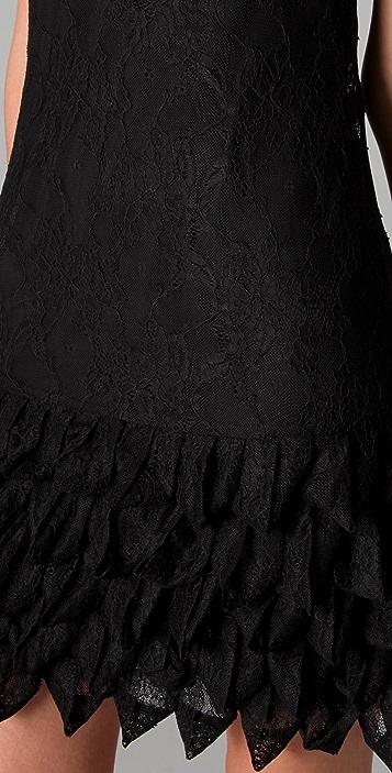 alice + olivia Randi Ruffle Lace Tank Dress