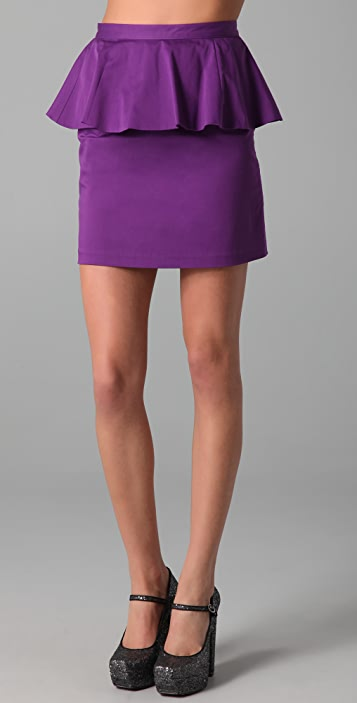 alice + olivia Carly Short Peplum Skirt