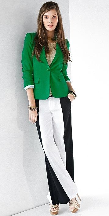 alice + olivia Wide Leg Side Panel Pants