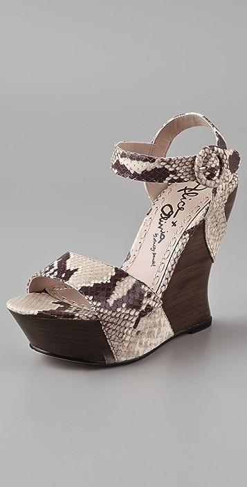 alice + olivia Joyce Wedge Sandals