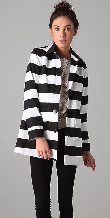 alice + olivia Constance Striped Coat