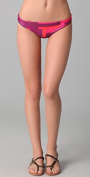 alice + olivia Print Bikini Bottoms