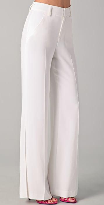 alice + olivia Wide Leg Side Slit Pants